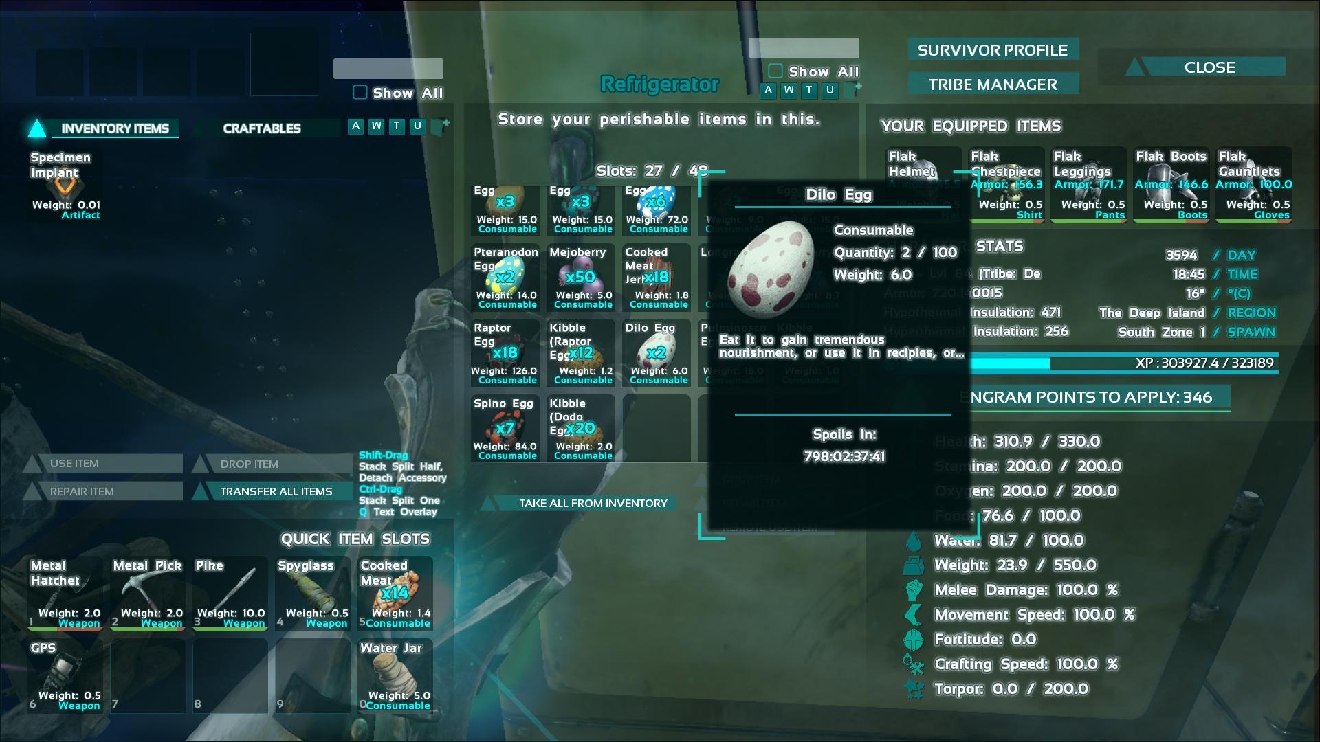 Dilo Egg ark screenshot - Gamingcfg com