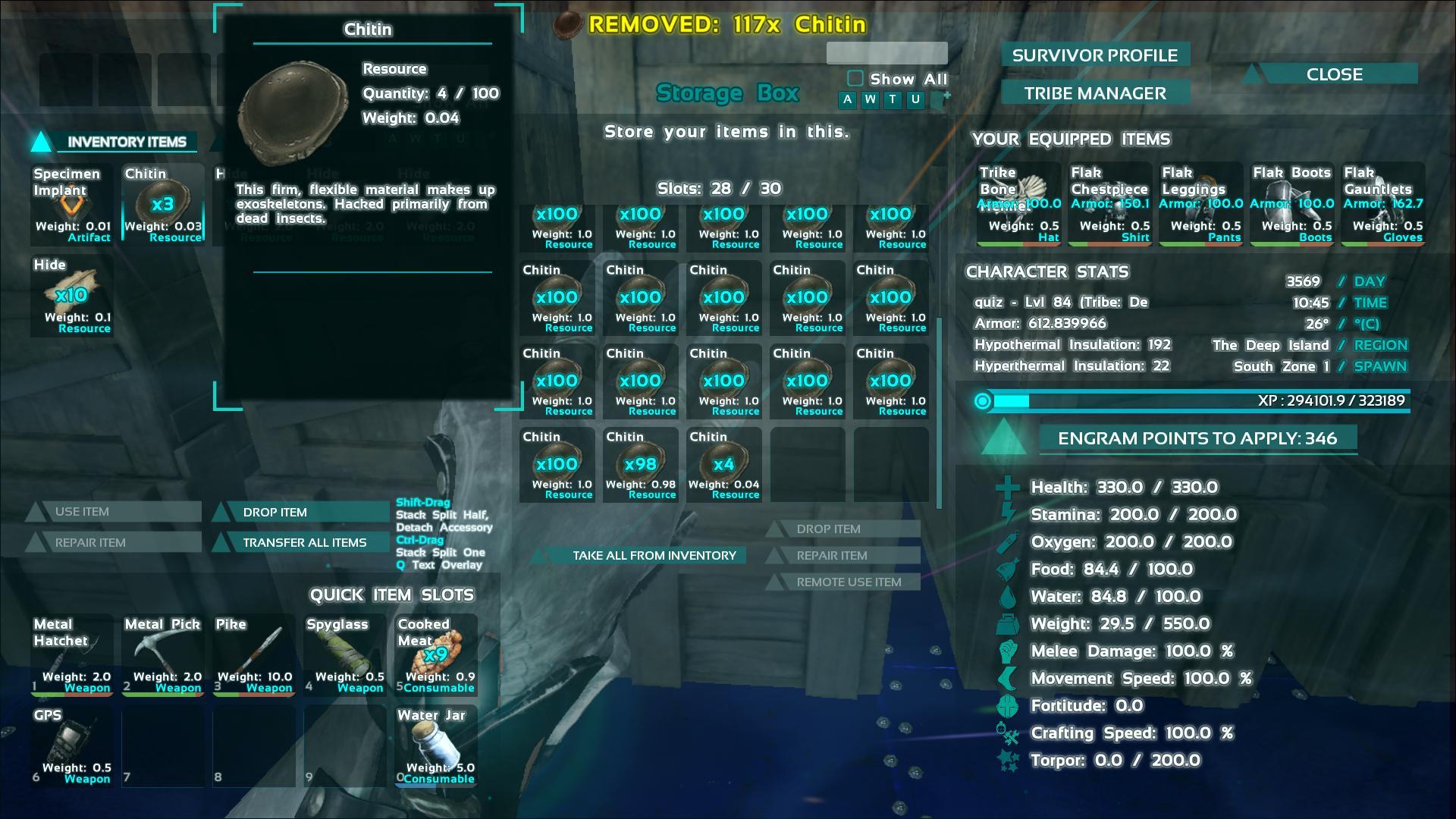Farming Chitin Ark Screenshot