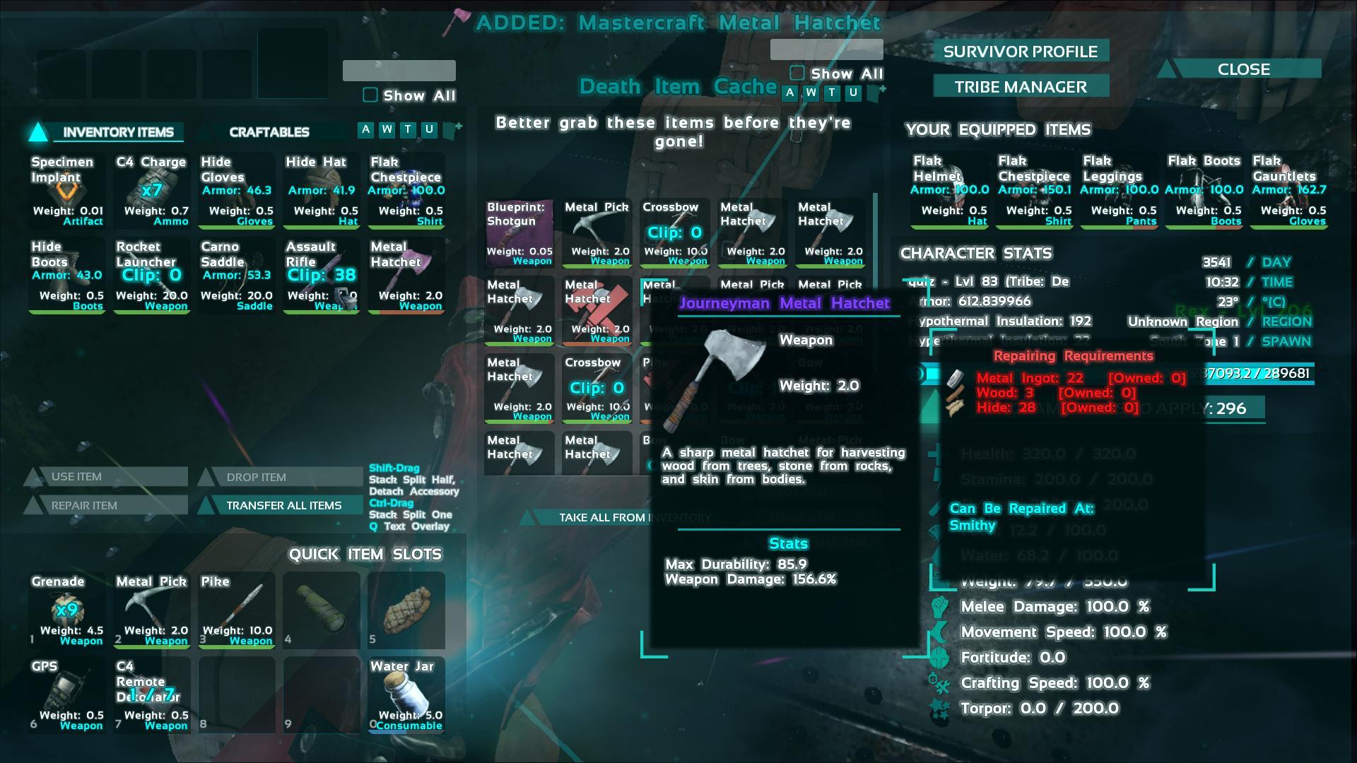 Journeyman metal hatchet ark screenshot gamingcfg journeyman metal hatchet ark screenshot malvernweather Gallery