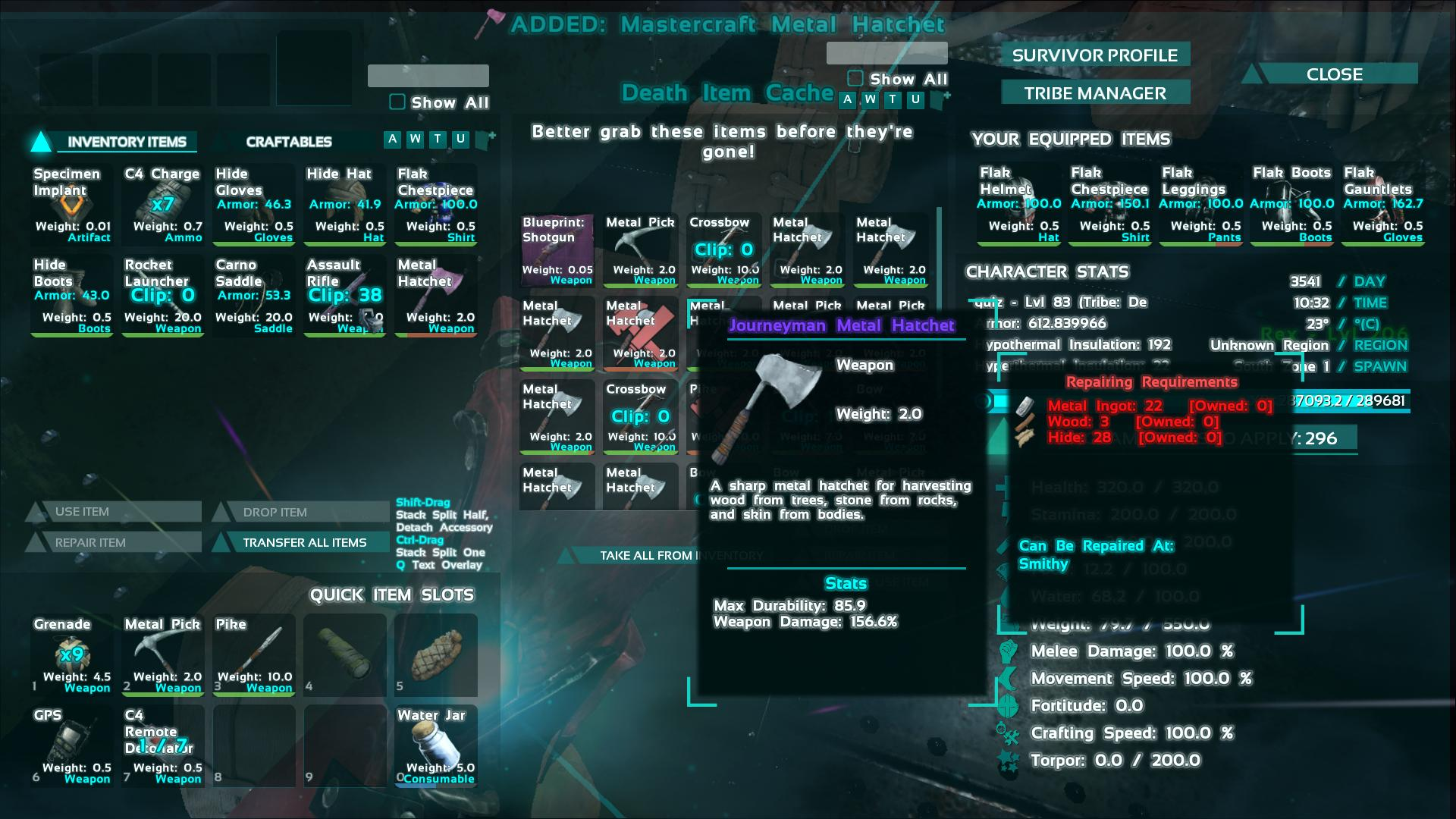 Journeyman metal hatchet ark screenshot gamingcfg journeyman metal hatchet ark screenshot malvernweather Choice Image