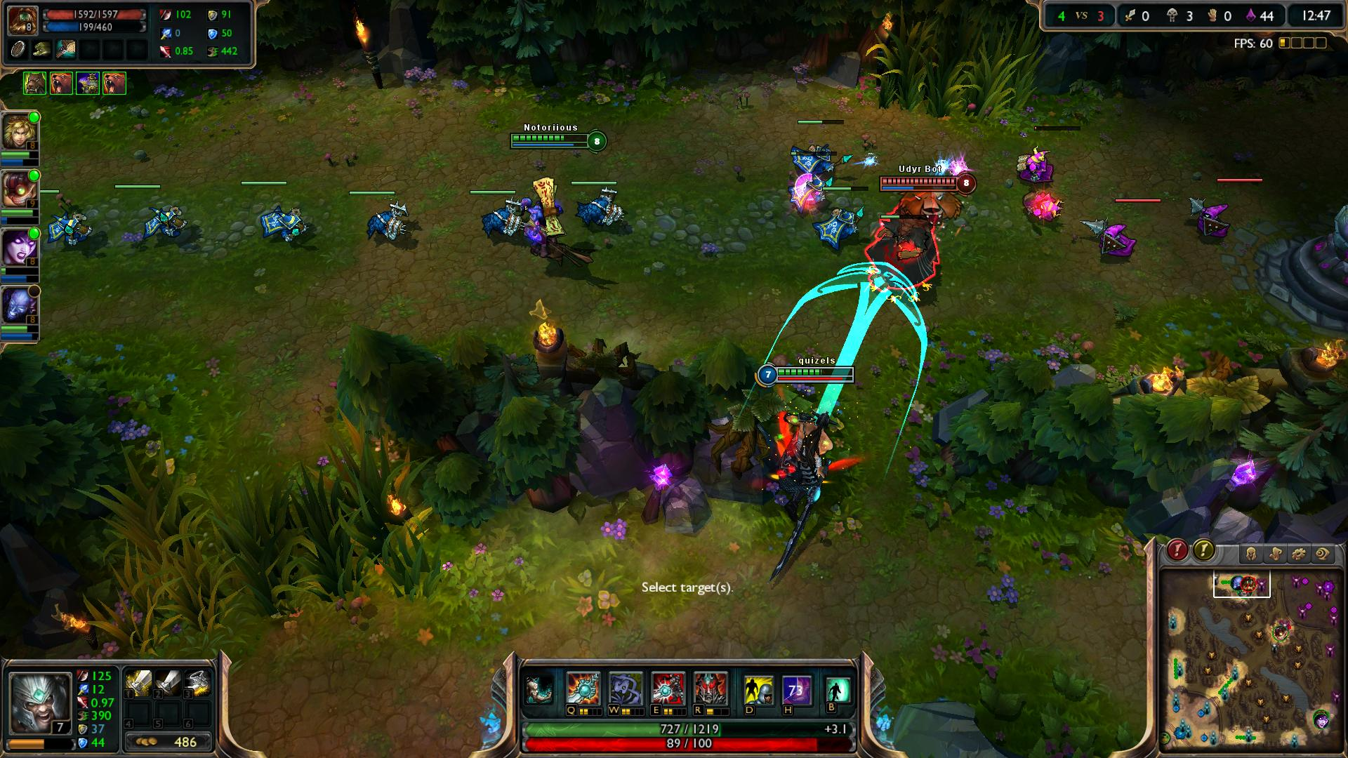Spinning Slash Tryndamere lol lol screenshot