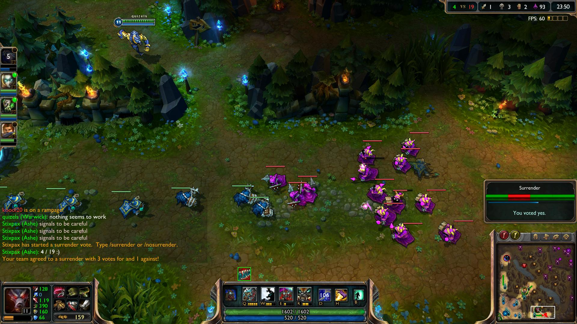 Surrender League of Legends lol screenshot