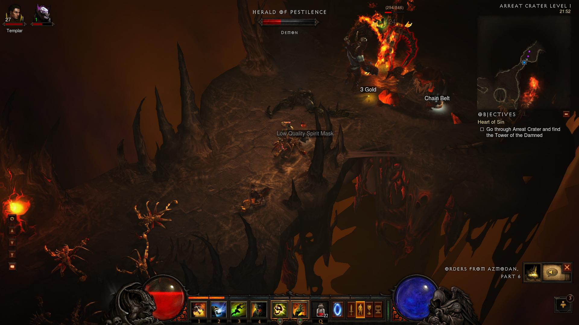 Arreat Crater Level 1 Diablo 3 d3 screenshot