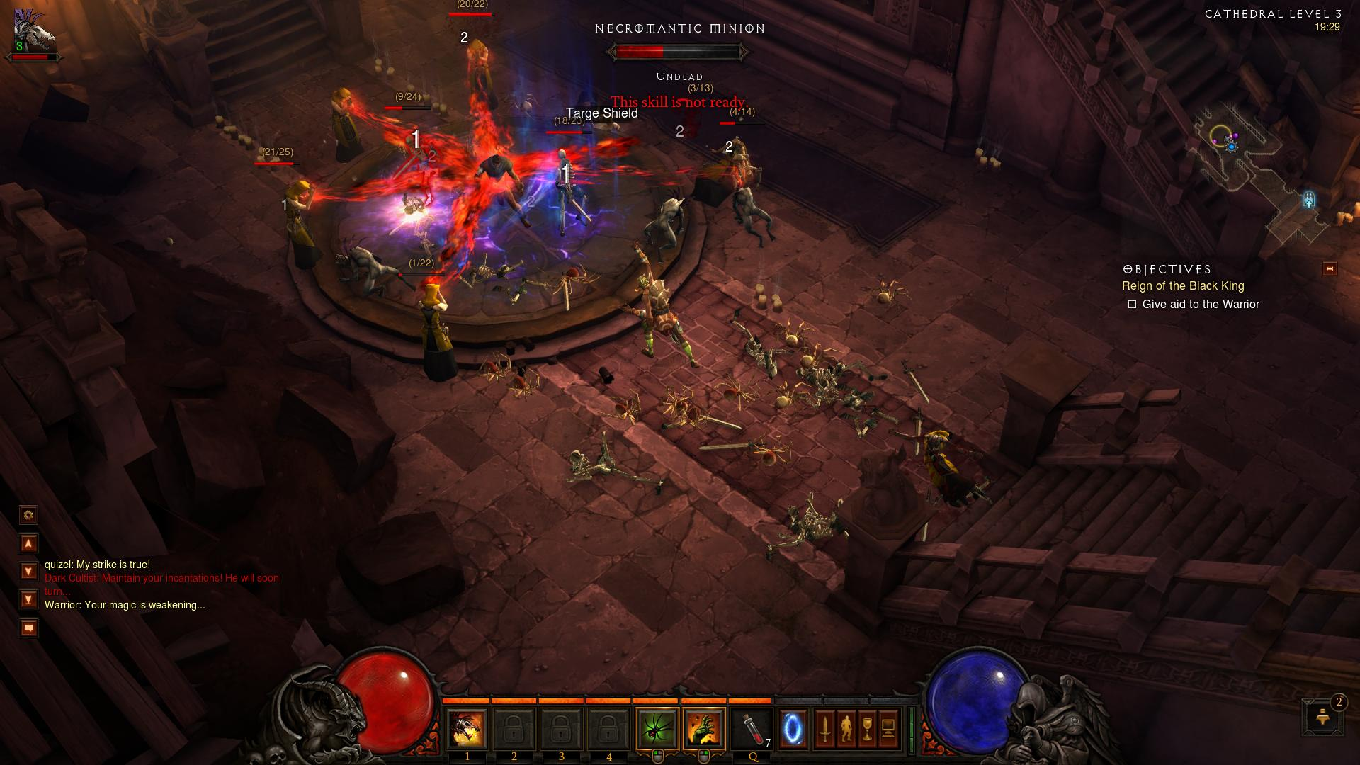 Cathedral level 3 Diablo 3 d3 screenshot