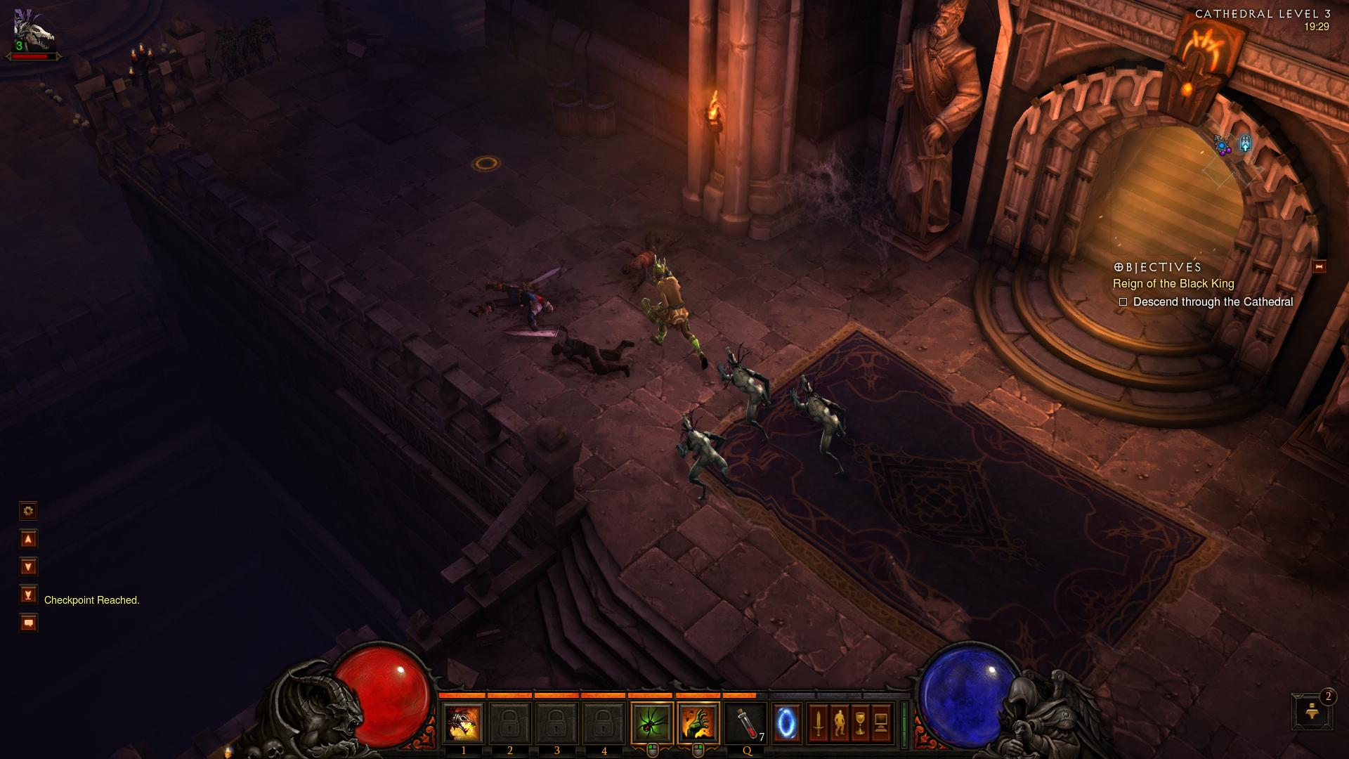 Diablo 3 Cathedral level 3 d3 screenshot