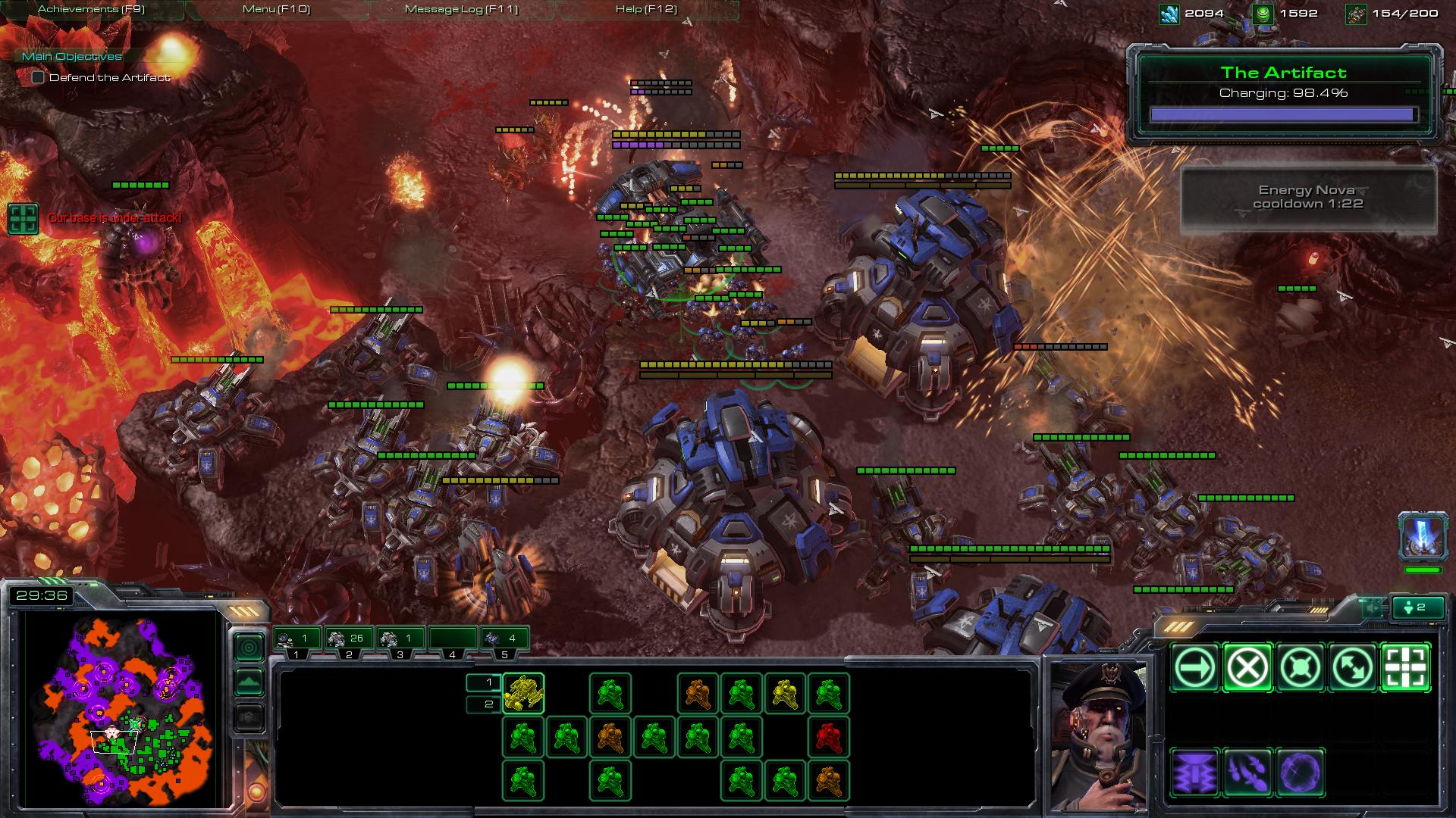 all in starcraft 2 sc2 screenshot. Black Bedroom Furniture Sets. Home Design Ideas