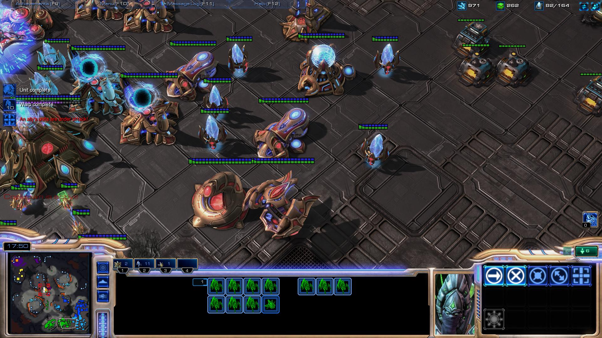 sc2 protoss build sc2 screenshot