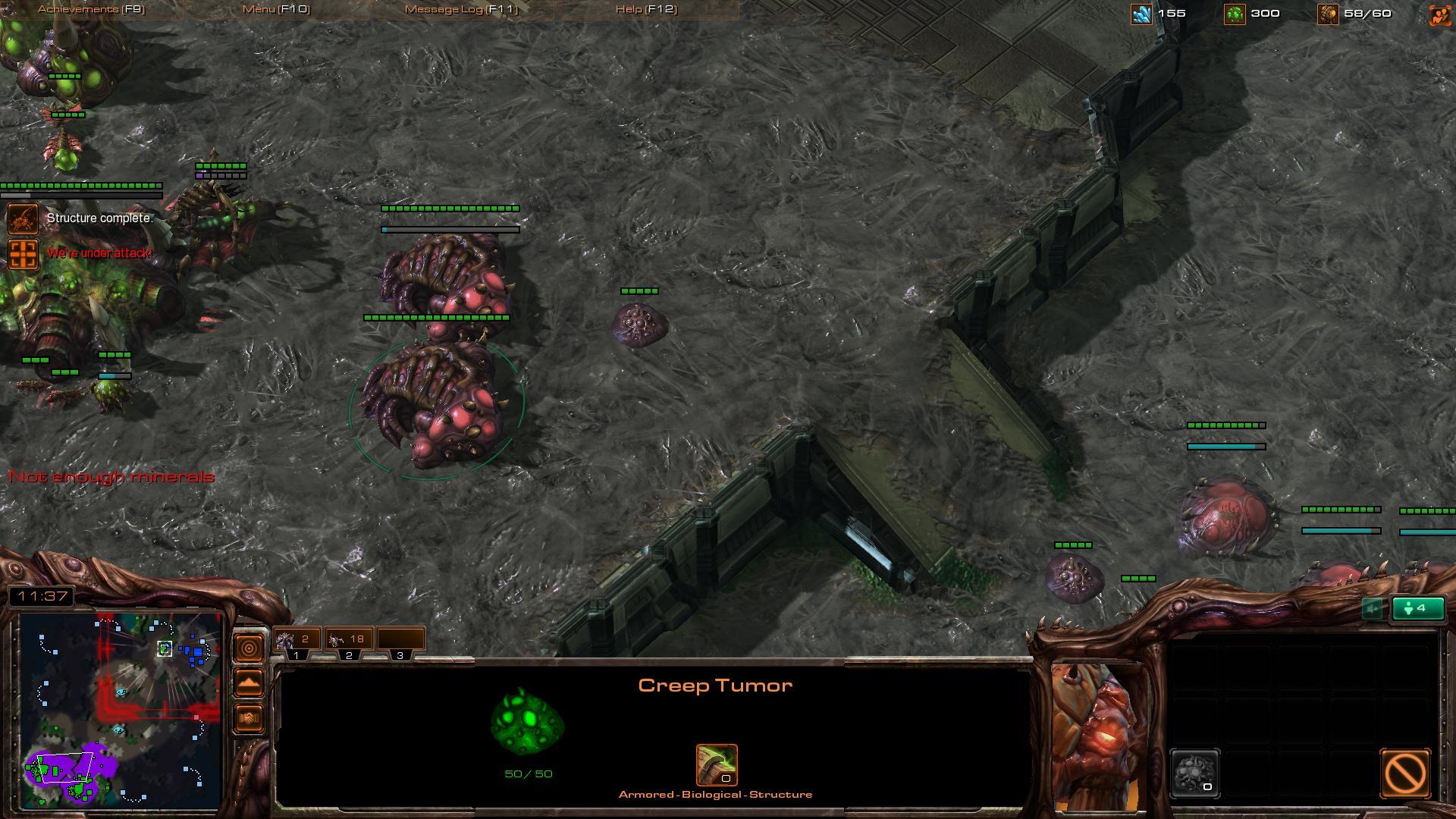 starcraft 2 zerg rush sc2 screenshot gamingcfg com