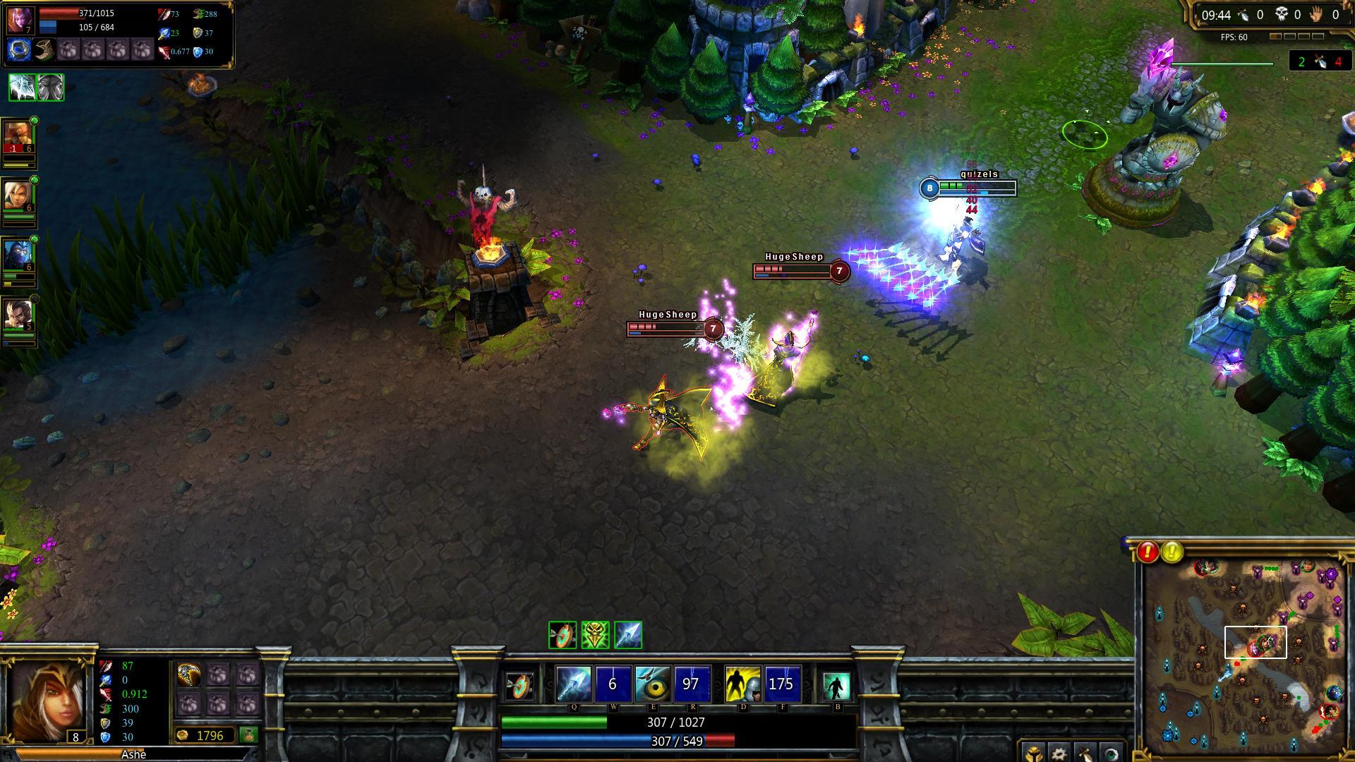 League of Legends Ashe combat lol screenshot - Gamingcfg com