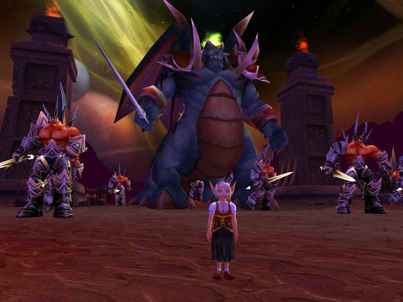 Blood elf child in outland wow screenshot - Gamingcfg com