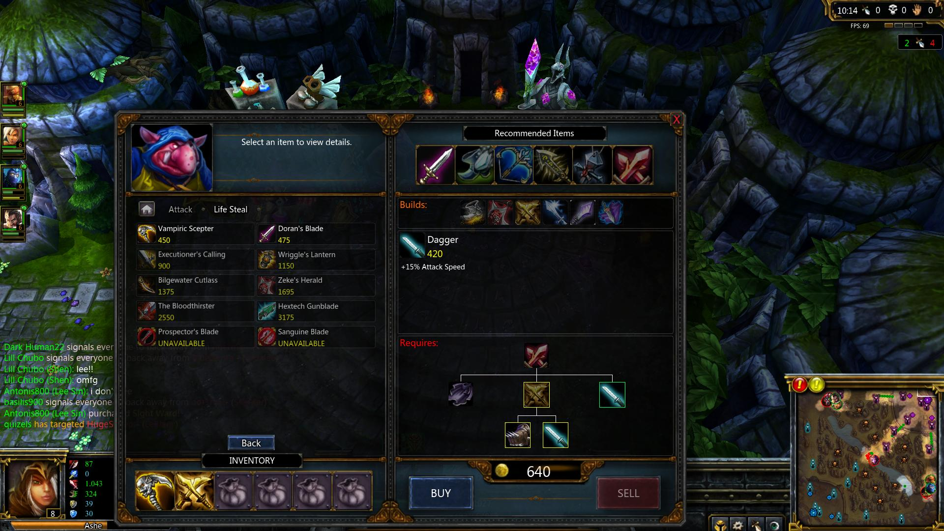 League of Legends Recommended Items lol screenshot