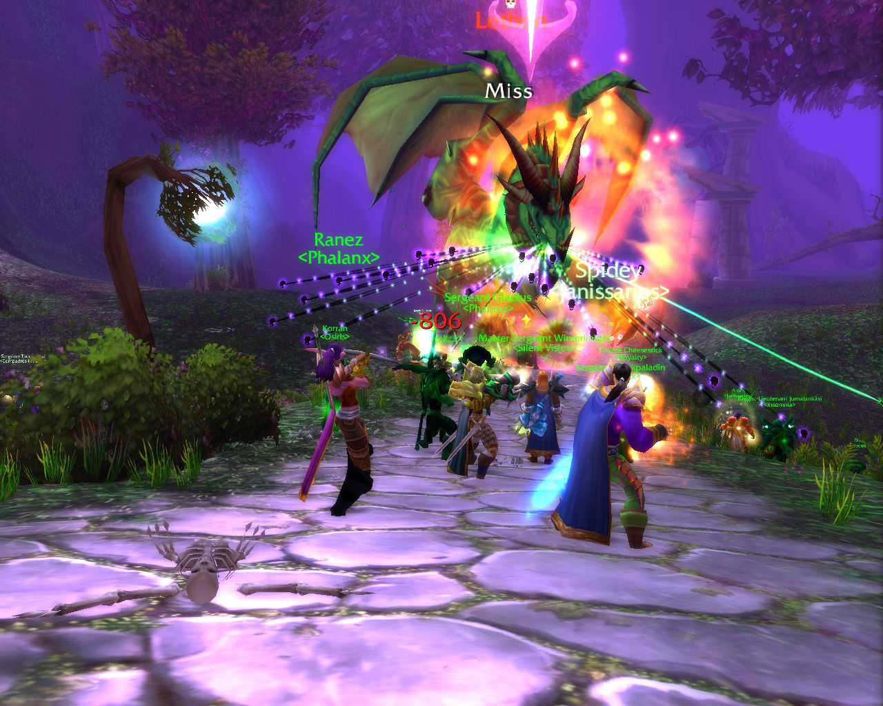 Classic Lethon fight wow screenshot