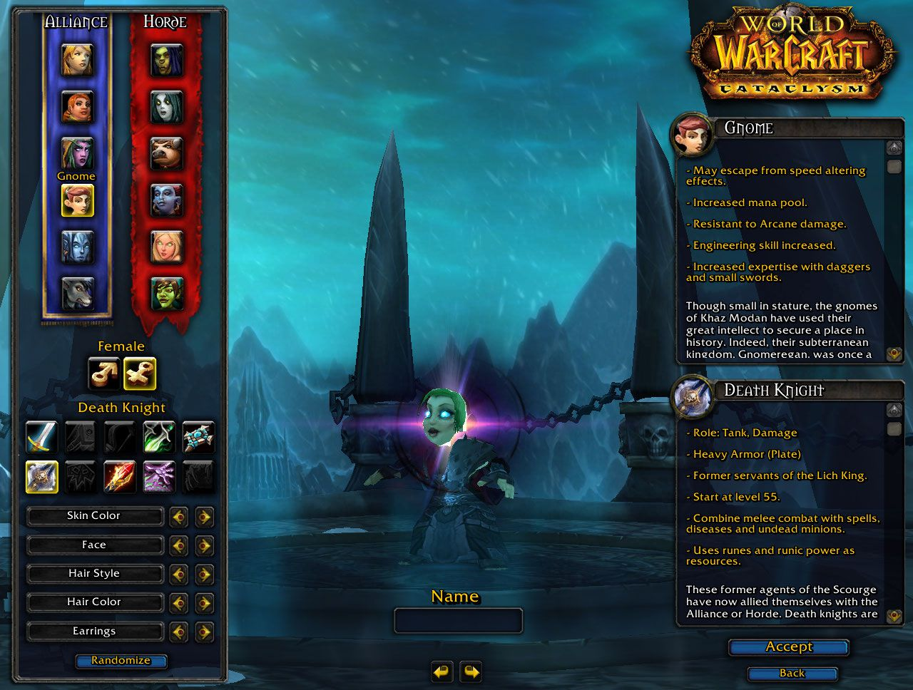 Gnome Death Knight Wow Screenshot Gamingcfgcom