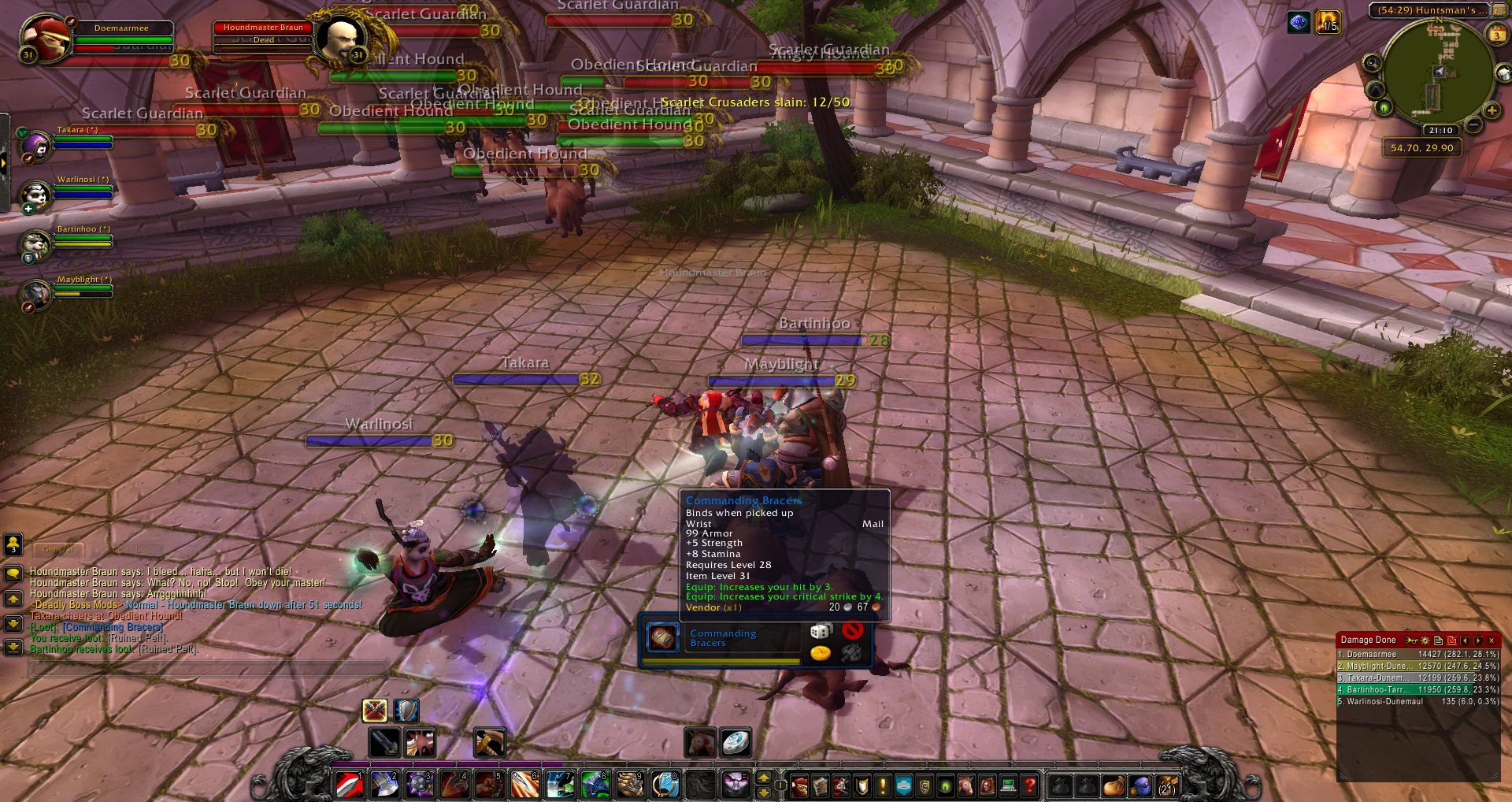 Houndmaster Braun Wow Screenshot