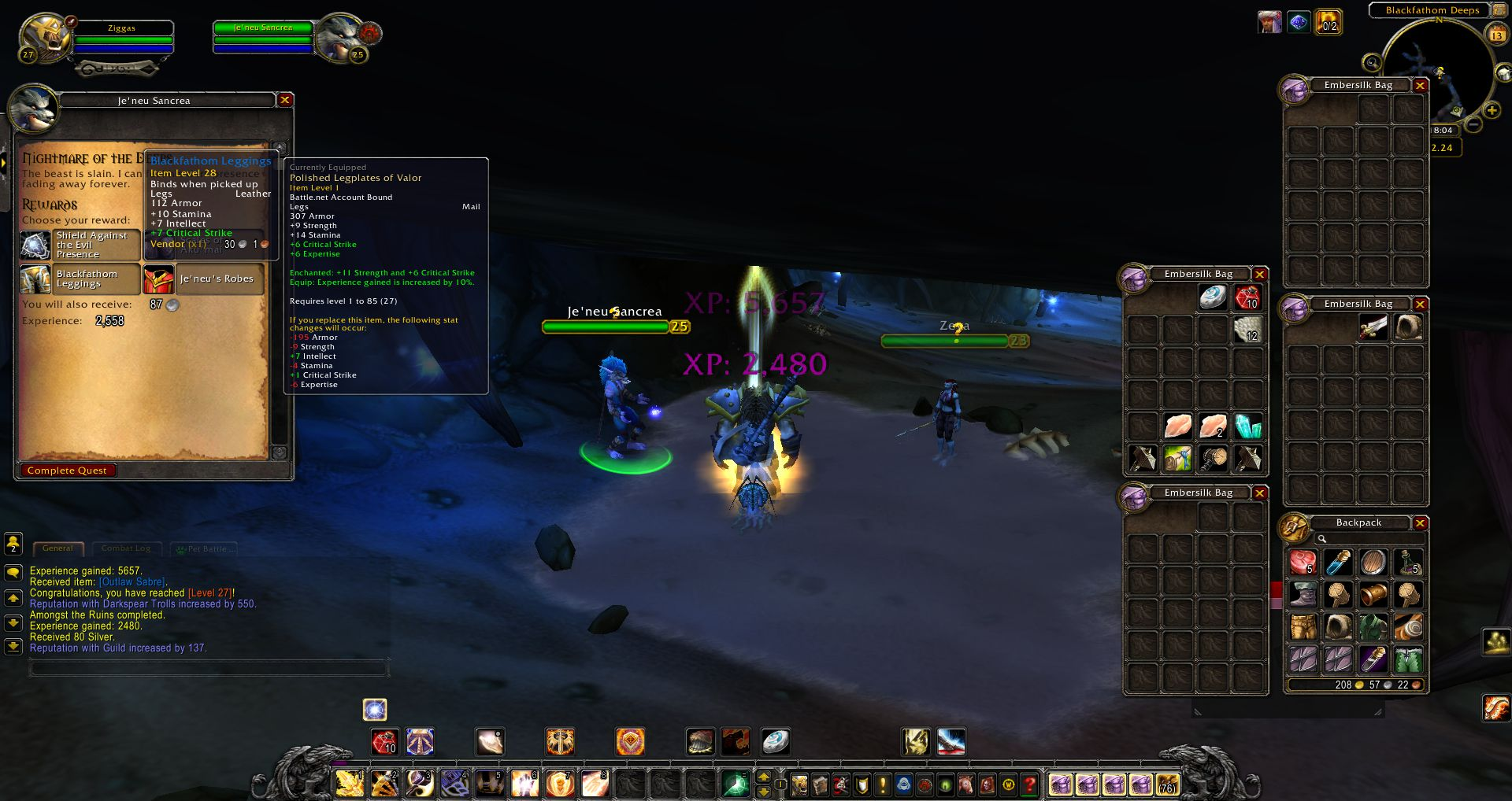 Je'neu Sancrea wow screenshot