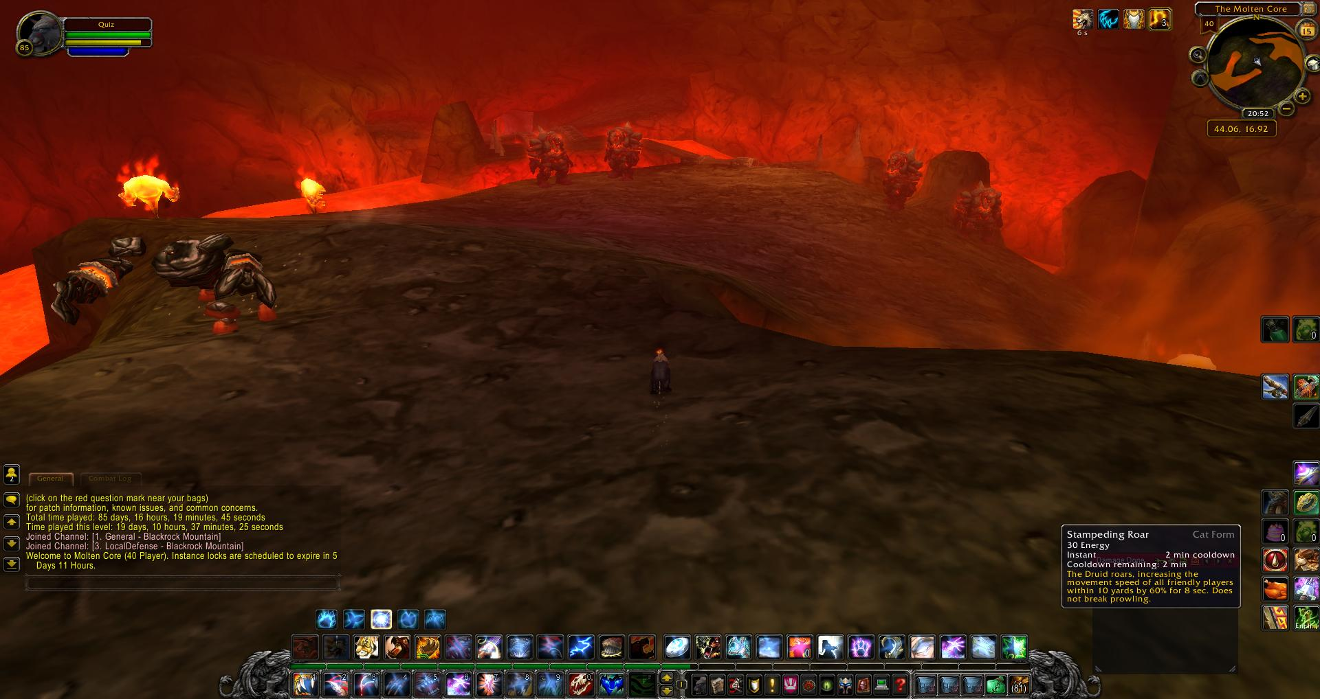 Molten Core wow wow screenshot