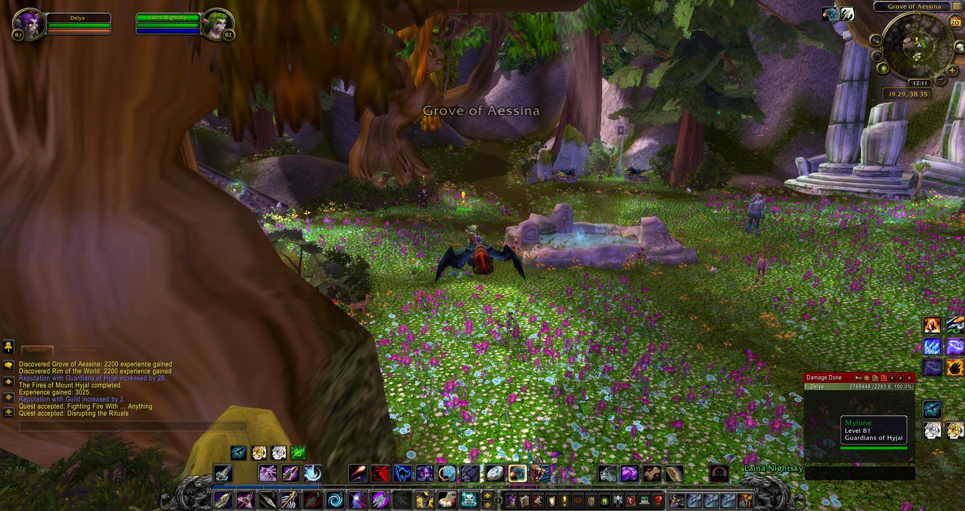 Mount Hyjal Grove Of Aessina Wow Screenshot Gamingcfgcom