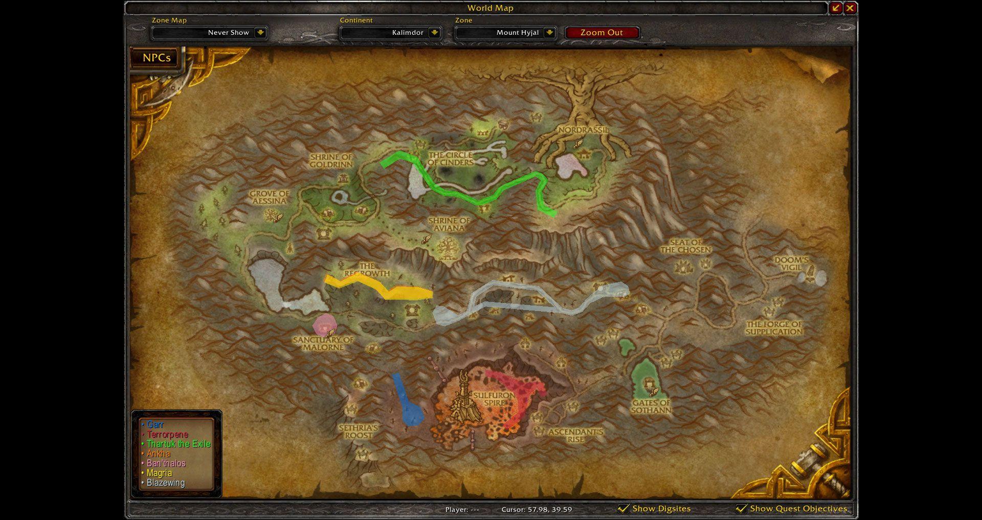 Mount Hyjal Map Wow Screenshot Gamingcfgcom