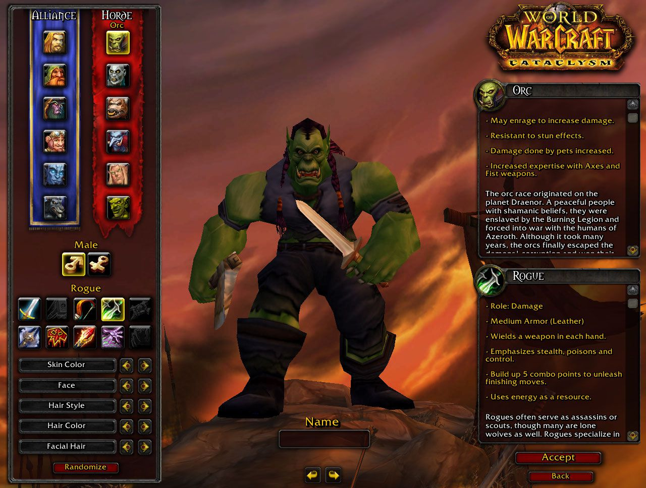 Orc Rogue Wow Screenshot Gamingcfg Com