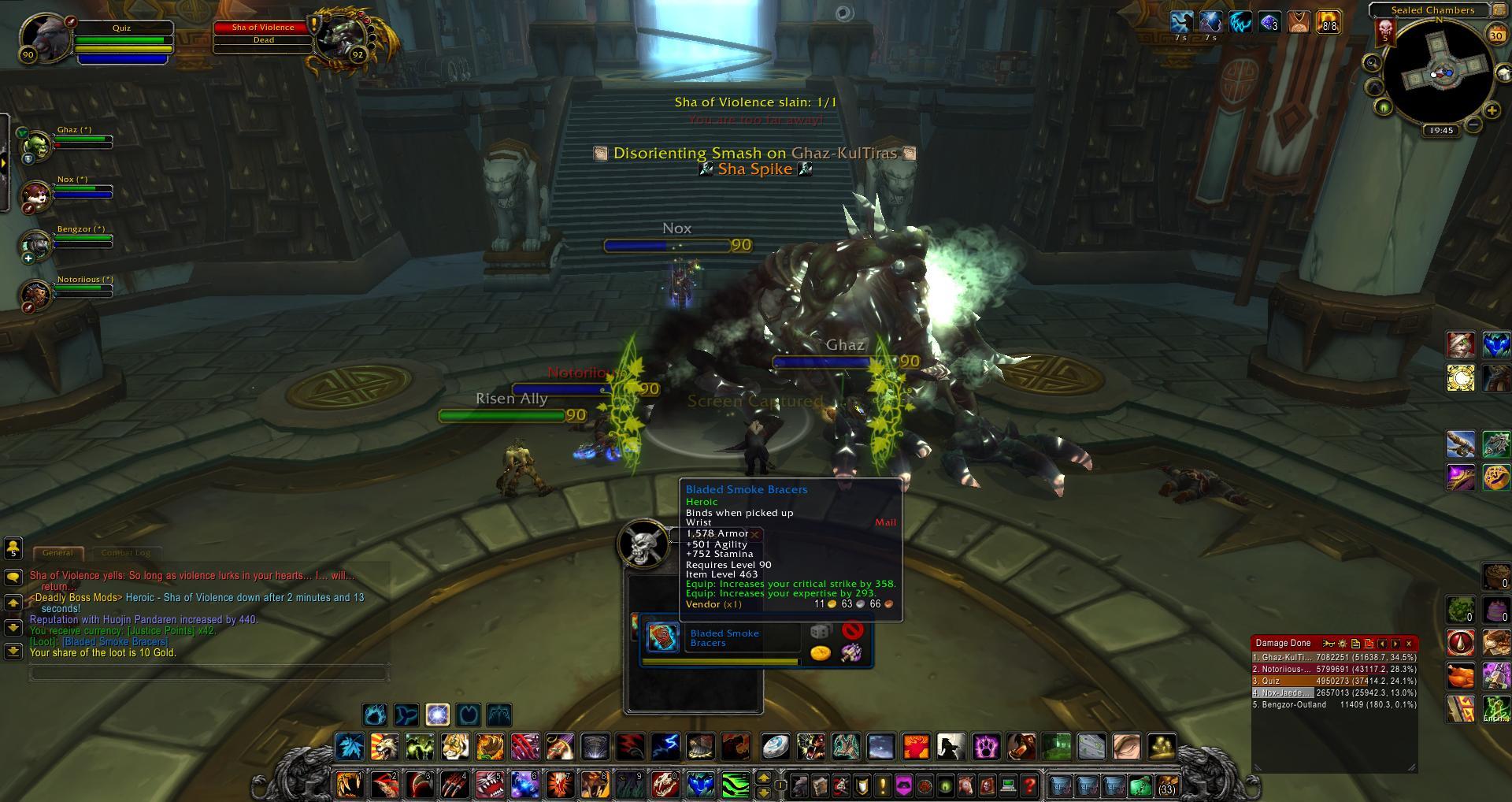 Sha Of Voilence Loot Wow Screenshot