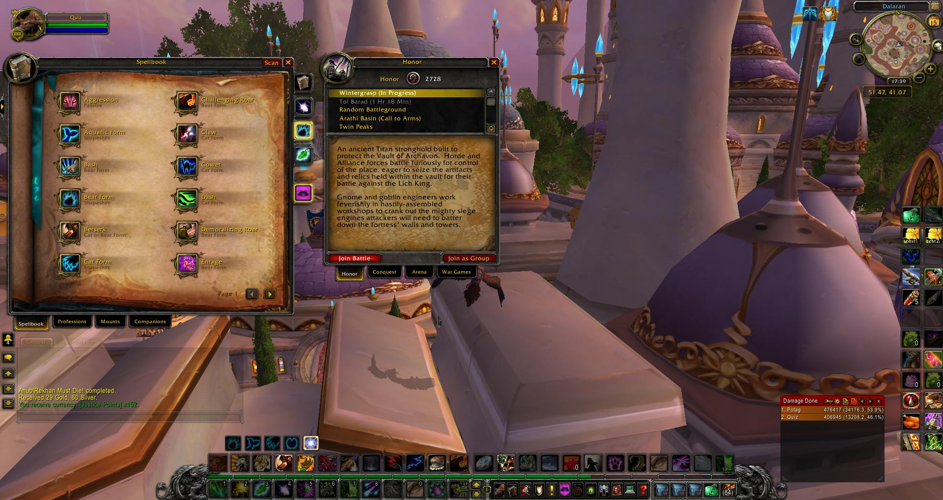 Spellbook Druid wow wow screenshot - Gamingcfg com