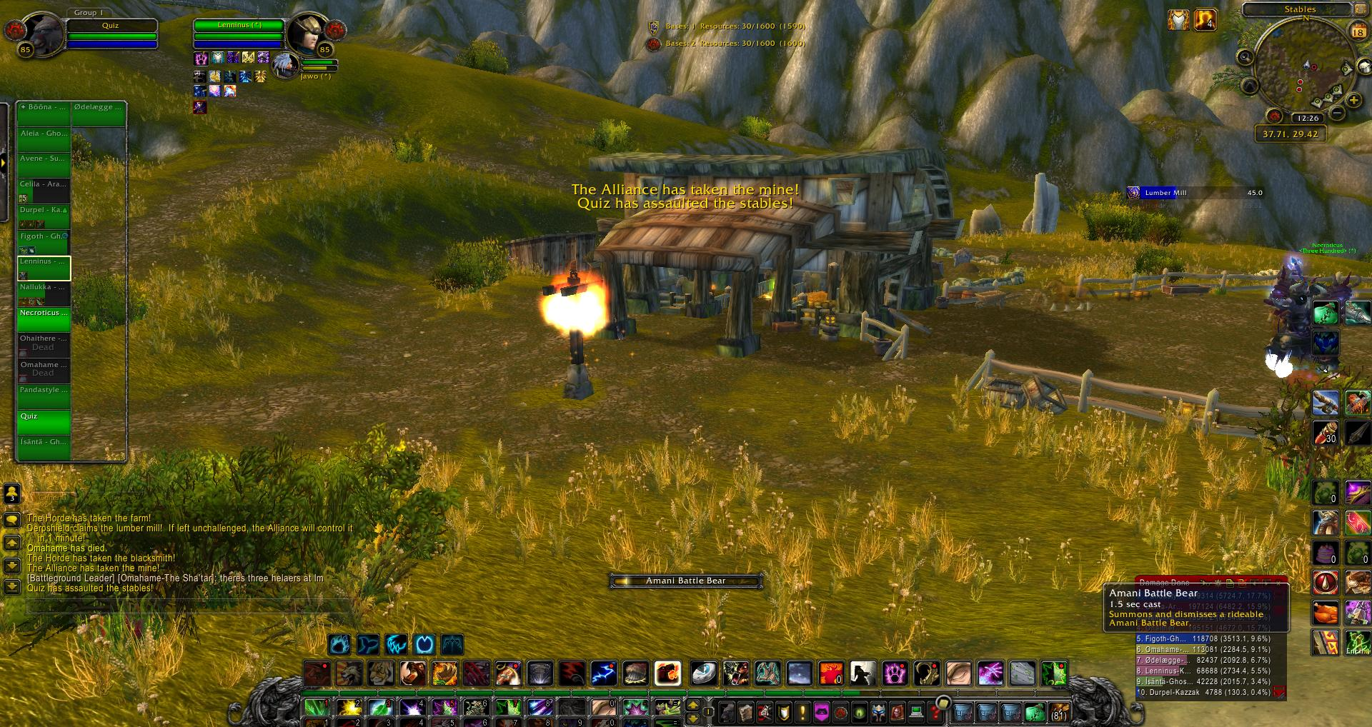 Stables Arathi Basin wow screenshot