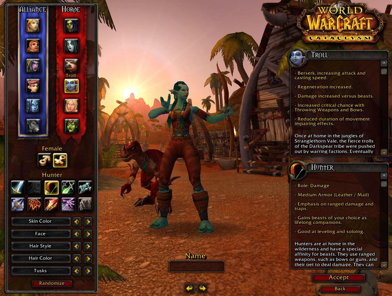 wow troll hunter names