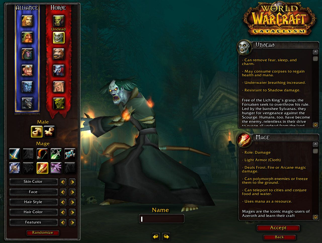 Undead Mage wow screenshot