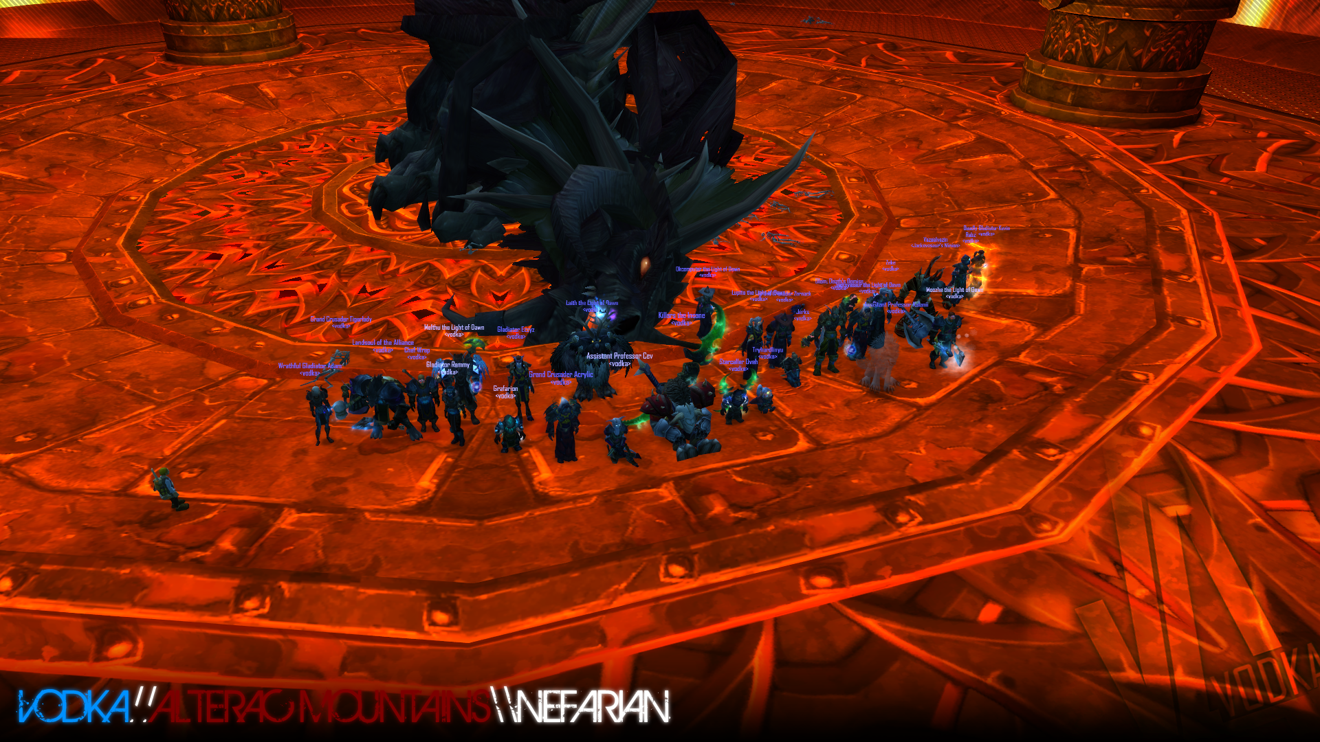 Vodka guild Nefarian wow screenshot