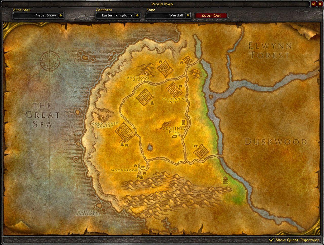 Superb West Fall #7: Westfall Map Wow Screenshot