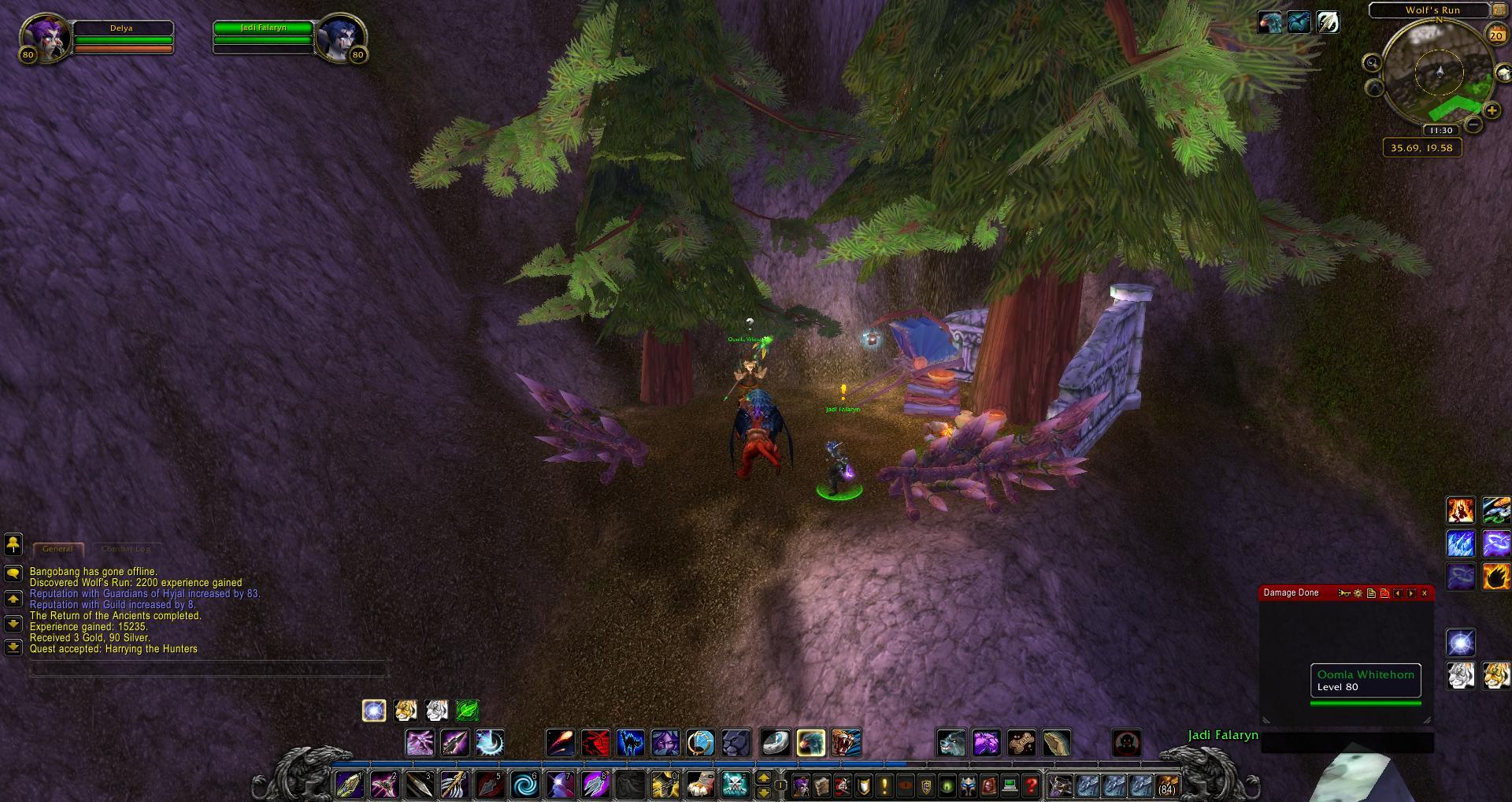 Wolfs Run Mount Hyjal Wow Screenshot Gamingcfgcom